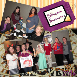 Halloween Bunco Collage